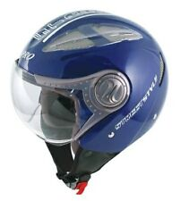 Jet Open Face Motorcycle Motorbike Scooter Crash Helmet Vented Viper Blue