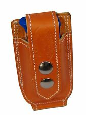 NEW Barsony Tan Leather Single Mag Pouch Llama, NA Arms Mini/Pocket 22 25 380
