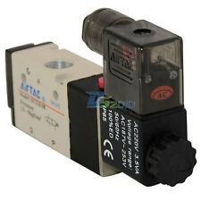 """BSP 1/4"""" 3 way 2 position Solenoid Valve Air DC/AC Pneumatic Electric 5sizes new"""
