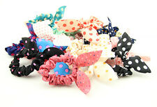 Cute Bunny Ears Shape Dot Pattern Hair Rope Hair Accessories Bow Rubber Band