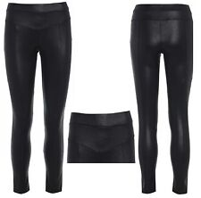 NEW WOMENS LADIES SHINY WET LOOK PVC LEATHER PANTS TROUSERS LEGGINGS SIZE 8-16