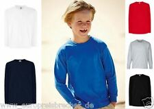 LANGARM Fruit of the Loom Kinder T-Shirt Kids Gr. 104  - 164 Jungen Mädchen