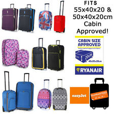55 50cm Ryanair Easyjet Cabin Approved Hand Luggage Wheeled Trolley Suitcase Bag