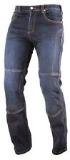 Motorcycle Denim Jeans Pants DuPont kevlar Lined Trousers CE Armours Blue