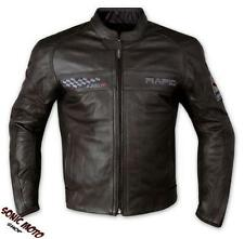 Leather Motorcycle Biker Jacket Cruising Biker CE Armored Sonicmoto Black