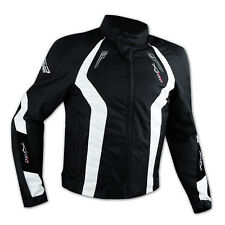 Apparel Motorcycle Wind Waterproof CE Armour Thermal Textile Jacket White