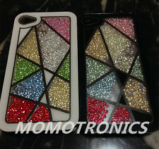 iPhone4/4S Moving Crystal Bling Free Style window Protective Back Case Cover