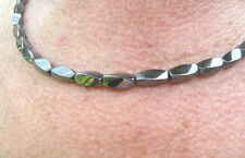 Men's Powerful Magnetic Hematite NECKLACE AAA+ SUPER STRONG Clasp FREE SHIPPING