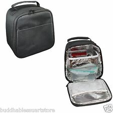 COOLER WITH LUNCH BOX BAG BAGS FOR FOOD WATER DRINKS FOIL INSULATED 7-1/2 X 8""