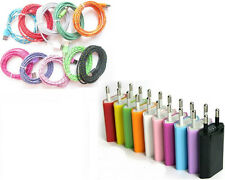 10ft/6ft/3ft Fabric Round USB Charge Data Cord + EU Plug for iPhone5 5S 5C iOS7