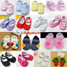 Baby Girl Infant Toddler Mary Jane Soft Sole Anti-slip Prewalker Crib Lace Shoes