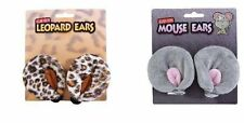 Grey mouse or leopard clip on ears animal costume accessory