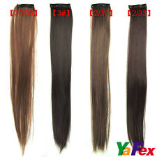 4 Colors Sexy Women's Popular Clip On Straight In Hair Extensions Long Hair Care
