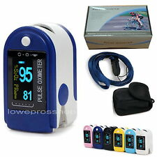 6 Color  OLED Fingertip oxymeter spo2,PR monitor Blood Oxygen Pulse Oximeter 50D