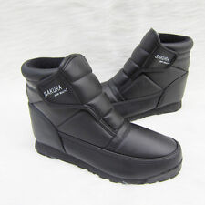 Men SAKURA Ankle Boots Black Winter Snow Jogger Warm Shoes Size 40-45