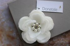 Light Ivory Flower Hair Clip  Wedding Headpiece Bridal Hair flower White Clip
