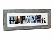 Creative Letter Art - Framed Beach Related Alphabet Photograph Name Sign