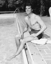 FERNANDO LAMAS B&W BARE CHESTED BY POOL PHOTO OR POSTER