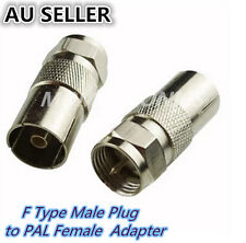 F Type Male Plug to PAL Female Socket TV Antenna Cable Connector Adaptor Adapter