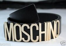 2014 new leather Moschino Belt With Gold Letters 80sVGCDustBag Box