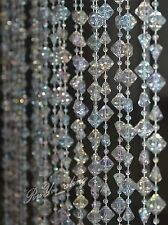 Wedding  Acrylic Crystal Garland Centerpiece Table Decoration Iridescence 60FT