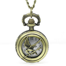 Wholesale Lots Pocket Watch Necklace Chain Pattern Carved Bronze Tone 42cm