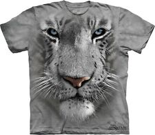 White Tiger Face Kids T-Shirt from The Mountain. Jungle Zoo Childrens Sizes NEW