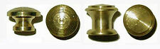 Turned Brass Bookcase,  Small Box Knobs, 2 sizes, Sold in Pairs or Lots of 6