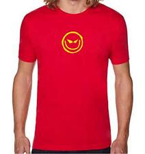 New FOR Men's Printed Evil grin smiley face smile FUNNY MMA COTTON TEE SHIRT