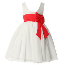 Chic Age 2~12 Flower Girl Bridesmaid Ball Gown Wedding Evening Dance Party Dress