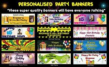Personalised Birthday Party Custom Event Sign Banners - Hi Quality Various Sizes