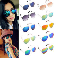 11Colors Alloy Metal Frame Avaitor Retro Pilot Fashion Mirrored Sunglasses Glass