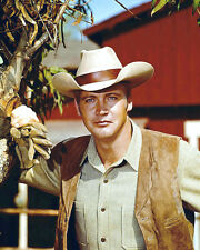 BIG VALLEY LEE MAJORS STETSON & WAISTCOAT PHOTO OR POSTER