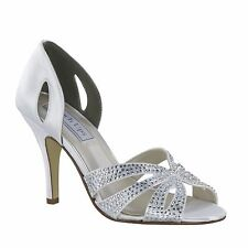 Poise Dyeable White Black Silver Gold Satin Prom Bridal Wedding High Heel Shoes
