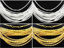 """Lots 20/50/100pcs Silver/Gold plated Hollow Snake Chain Necklace Clasp Long,20"""""""