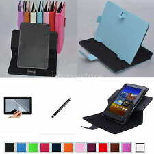 "Colorful Rotary Magic Case+Film+Pen For 7"" Visual Land Prestige Elite 7Q Tablet"