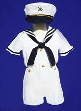 New Baby Boy/ Toddler Formal Sailor Suit/Outfit/Costume- All White- 2T, 3T, 4T