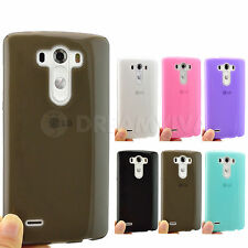 Colored 0.5mm Ultra Thin Soft Tpu Silicone Case Cover Skin For LG G3 + Free Film