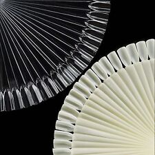 50Pcs Clear White False Nail Art Polish Display Practice Fan Tool Starter Kit