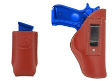 New Barsony Burgundy Leather IWB Holster + Mag Pouch Smith&Wesson Full Size 9mm