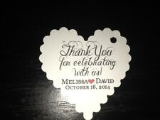 Wedding Favor Tags Thank You Celebrating Personalized Heart Buy 2 Get 1