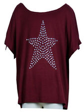Kids Girls Childrens Batwing Top Con Borchie Star detail 7 - 16 anni vino Bordeaux