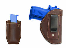 New Barsony Brown Leather IWB Holster + Mag Pouch Raven Jennings Mini 22 25 380