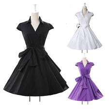 Vintage Swing 1950s Cap Sleeve Housewife Retro Pinup Rockabilly EVENING Dress