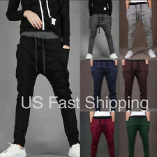 █ █ MENS CASUAL JOGGER DANCE SPORTWEAR HAREM PANTS SLACKS TROUSERS SWEATPANTS