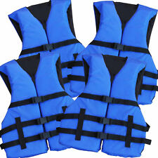 4 Pack Adult Life Jacket PFD USCG Type III Universal Boating Ski Vest New