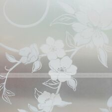 White Peony Frosted Static Cling Glass Window Privacy Film Self Adhesive 2m 4m