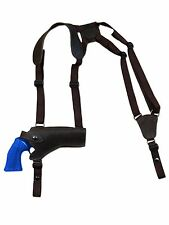 """NEW Barsony Brown Leather Horizontal Gun Shoulder Holster for S&W 4"""" Revolvers"""