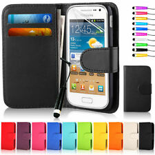 Flip Wallet Leather Case Cover For Samsung Galaxy ACE 2 I8160 & Screen Protector