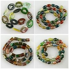 J59419 Indian agate multiple shapes loose beads